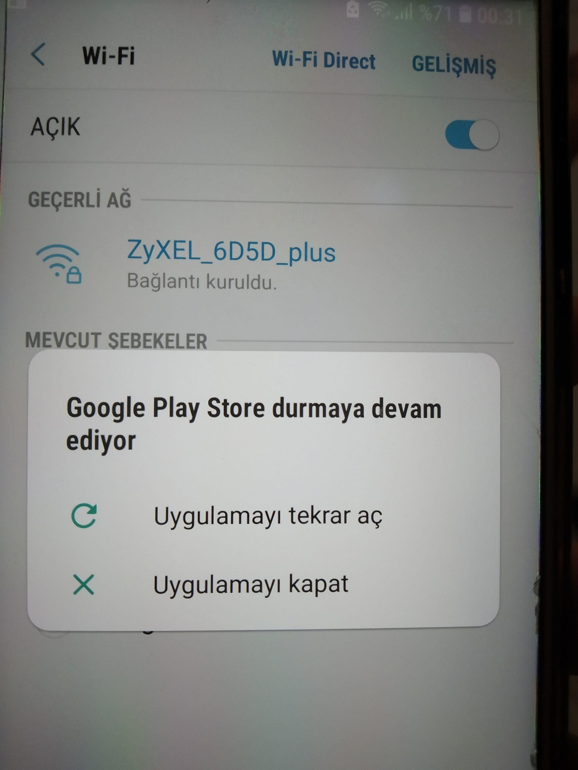 Google play store durmaya devam ediyor