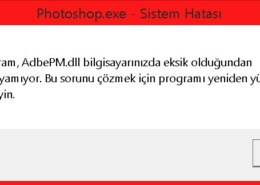 "Adobe ""Ps"" Dll Hatası"