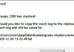 obs studio crash