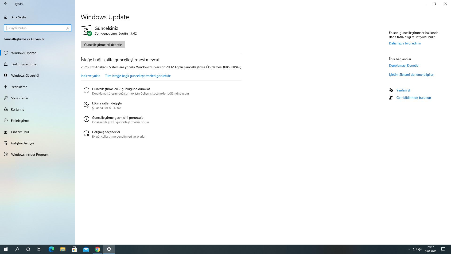 windows isoya güncelleme