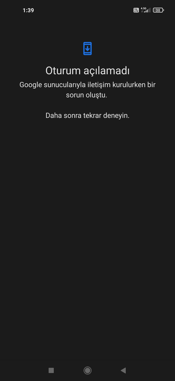 Play Store sunucu hatası